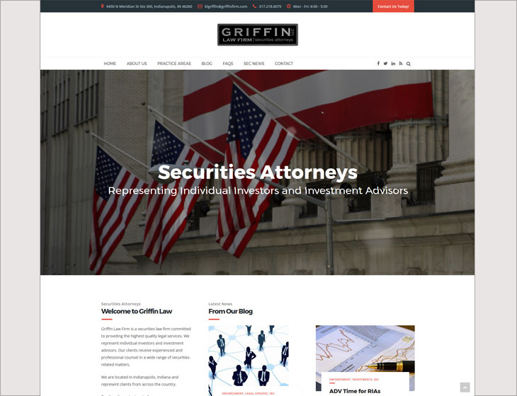 Griffin Law Firm Website