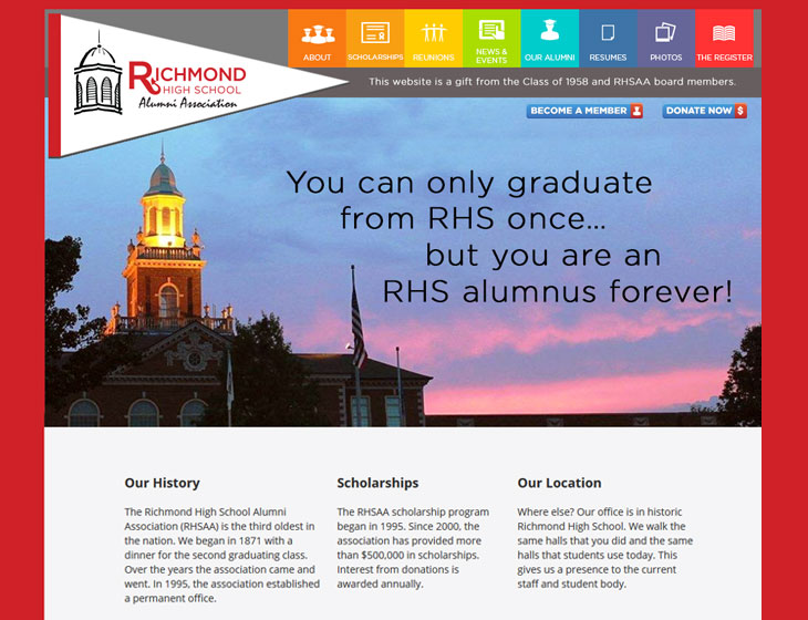 Richmond High School Alumni Association Website