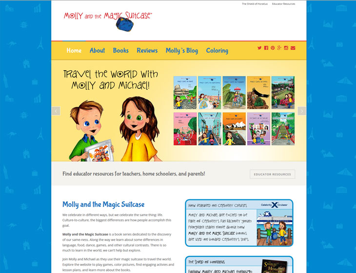 Molly and the Magic Suitcase website